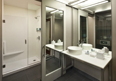Newly renovated and clean bathrooms